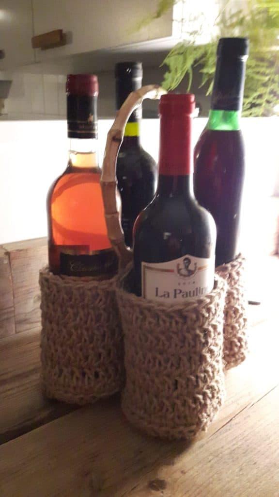 wijnflessen rekje haken