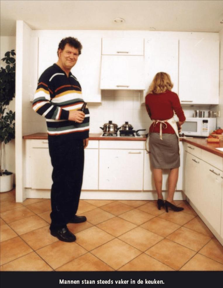 mannen staan steeds vaker in de keuken